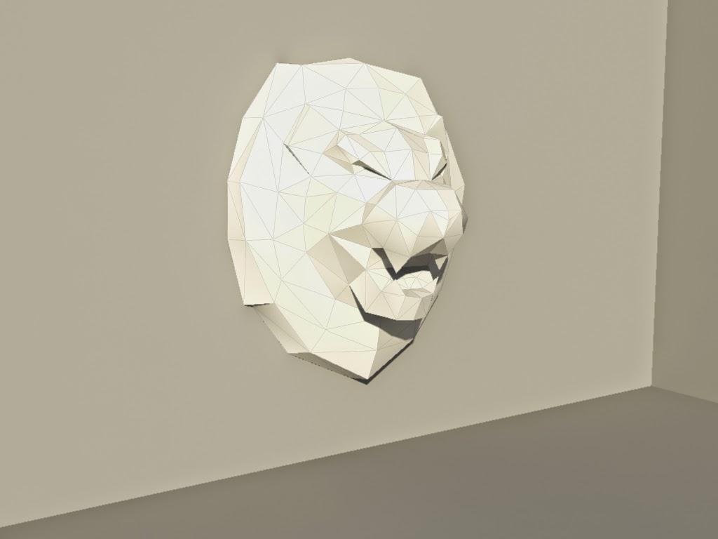 sculpture lion papier paper pepakura polygone lowpoly