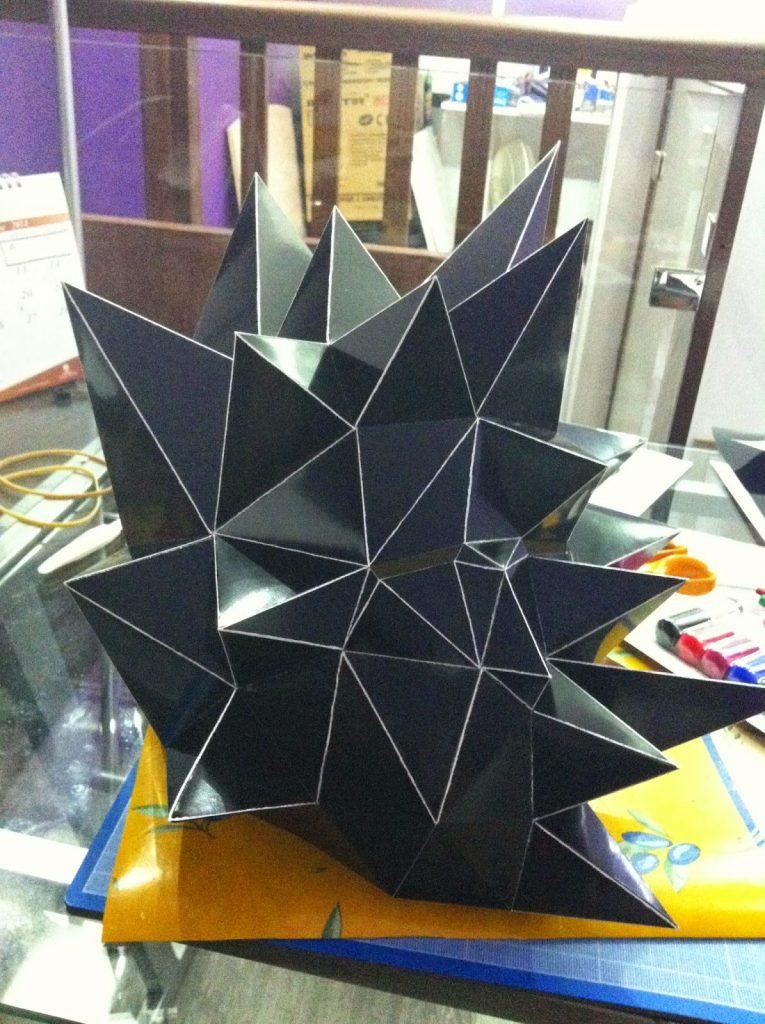 sculpture mask masque soleil sun papier paper pepakura polygone lowpoly