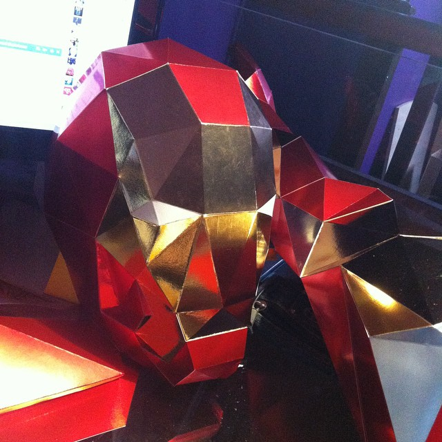 sculpture papier paper pepakura polygone lowpoly iron man civil war marvel