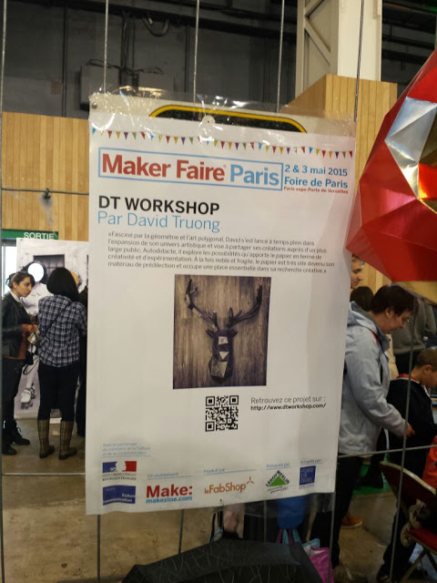 dt workshop maker faire paris 2015 mfp15 paper papier sculpture